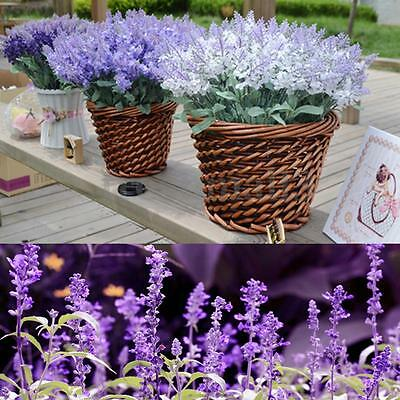 40 Heads Artificial Silk Lavender Flower Bouquet Wedding Party Home Decor Craft