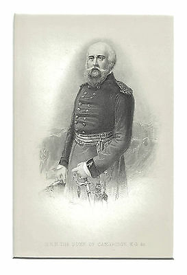 Prince George, Duke of Cambridge, K.G. - British Army Commander - Engraved c1880