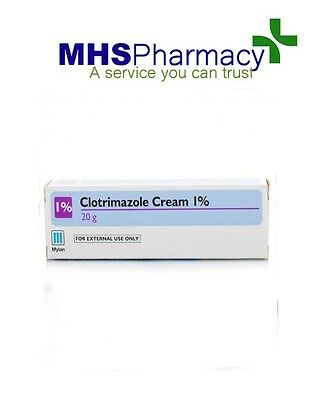 2 x Clotrimazole Cream 1% -Canesten-Thrush/Nappy Rash/Ringworm/Athletes Foot-20g