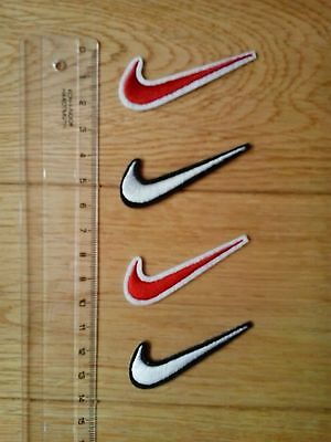 4 x NIKE Embroidered Logo Sew/Iron-on Patch  NEW