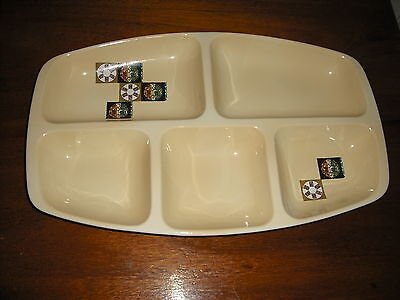 Great for Christmas Party Season Retro 1970's Carlton Ware Snack 5 Section Dish