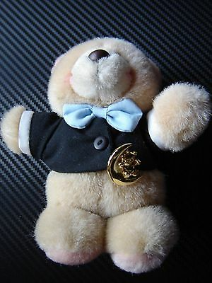 """Forever friends plush bear In his tails and blue bowtie. 6"""" tall"""