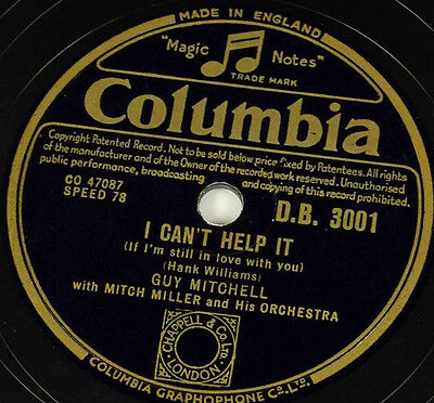 Schellackplatte - Guy Mitchell - Wimmin / I Can't Help It - gramophone record