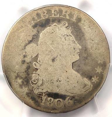 1806 Draped Bust Quarter 25C B-9 - PCGS AG3  - Rare Early Certified Coin