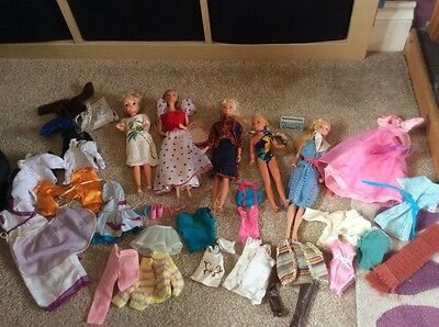 Retro Barbie, Sindy and Skipper plus outfits & accessories