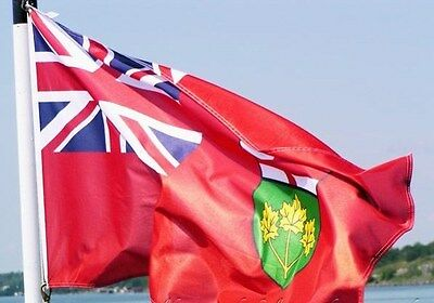 NEW 3x5 ft ONTARIO CANADA CANADIAN FLAG