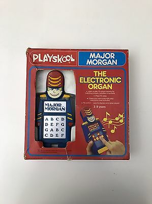 RARE Vintage 1979 MAJOR MORGAN (The Electronic Organ) Learning Toy by PLAYSKOOL