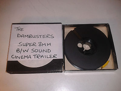 THE DAM BUSTERS Cinema Trailer - Richard Todd - Super 8mm Sound