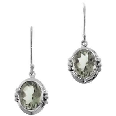 """1/2"""" EXQUISITE GREEN AMETHYST 925 STERLING SILVER earrings"""
