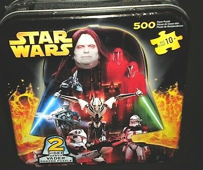 Star Wars Rots- Double Sided Vader Shaped Puzzle - 500 Pieces  New/sealed