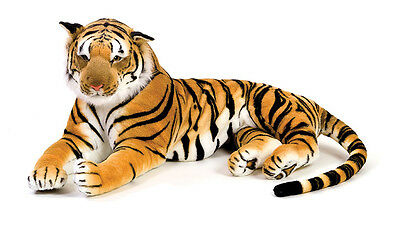 "57"" Ex Large Brown Siberian Bengal Wild Real Life Lying Tiger Soft Plush  43739X"
