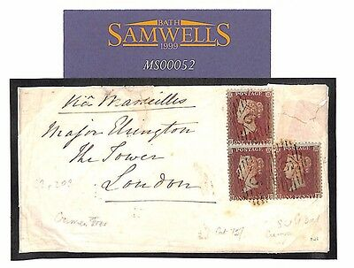 MS52 1855 CRIMEAN WAR Soldiers Concession Rate TOWER OF LONDON 3x SG.22 (C2p203)