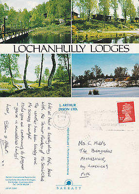 1991 Multi Views Of Lochanhully Lodges Carrbridge Inverness Shire Postcard