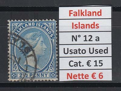 Falkland Islands numero 12 a  Usato (USED)
