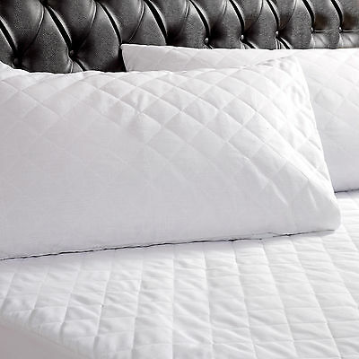 Non Allergy & Non Iron Quilted Pillow Protector Cover – 50 x 75 cm - White