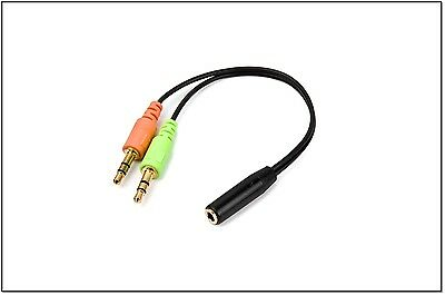 Headphone Mic Pc Splitter Cable Adapter For Gioteck Hc4 Hc-4 Hc 4 Headset