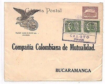 BA40 COLOMBIA Advertising Postal Stationery *Caloto* EAGLE Vignette Cover