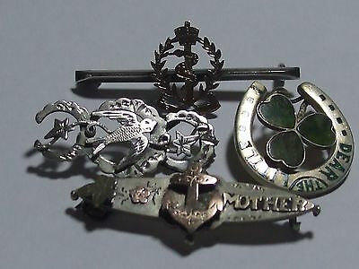 Four Silver Hallmarked Brooches - repair