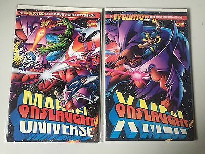 ONSLAUGHT MARVEL UNIVERSE #1 and X-Men ONSLAUGHT #! (1996)MARVEL.
