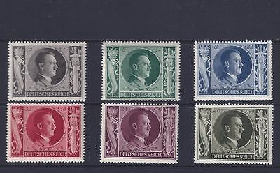 3rd REICH HITLERS BIRTHDAY SET OF 6 MNH/**