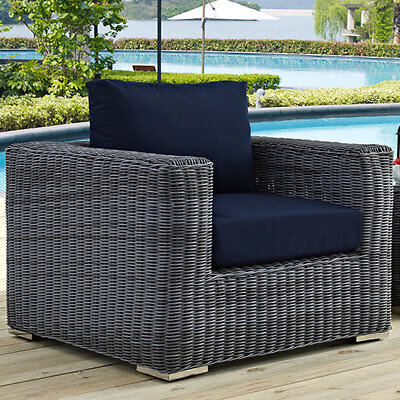 Modway Summon Outdoor Patio Arm Chair with Cushions