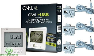 Owl CM160 + USB 3 Phase Kabellos & Home Business Energie Monitor TSE004-051