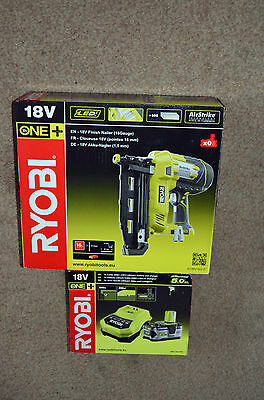 Ryobi 18V Air Strike Finish Nailer With A 5Ah Battery And Charger  New