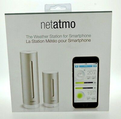 Netatmo Nws01-Ec. The Weather Station For Smartphone, Iphone, Android, Ipad. New