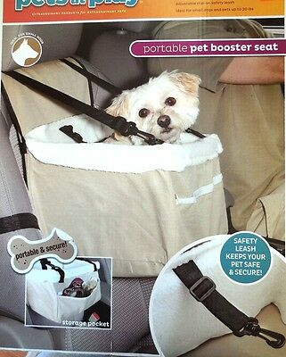 Pets At Play Portable Travel Pet Booster Seat For Small Dogs Up To 20 LBS