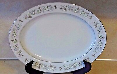 Vintage Imperial China Oval Serving Platter W. Dalton 745 Wild Flower New