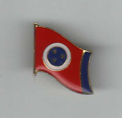 Vintage Enamel Tennessee State Flag Hat Lapel Pin Tie Tack