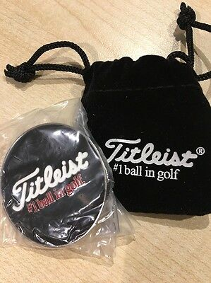 Limited Edition Titleist Pro V1 Poker Chip Ball Marker & Pouch