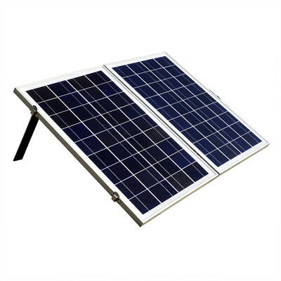 50W Watt Poly Folding Foldable Solar Panel W/ 3A Charge Controller RV Boat