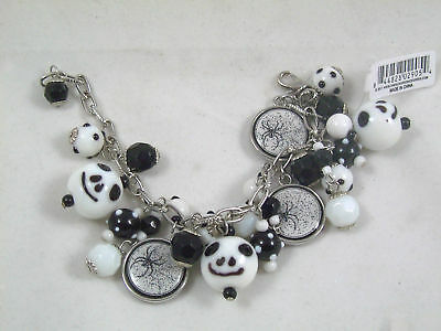 SKULL BRACELET Spider Fashion Jewelry Halloween GOTHIC New in Box