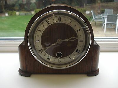 Lovely 8 Day Bentima Davall Oak Mantle Clock