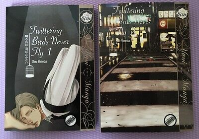 Twittering Birds Never Fly ~ Kou Yoneda ~ Volumes 1 + 2 - (yaoi rare) ENGLISH