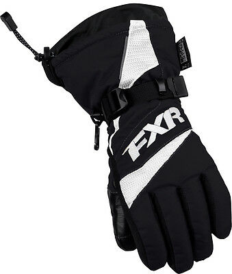 FXR Helix Youth Race Gloves Black/White MD