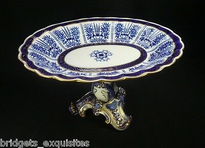 Messrs Daniell London Coalport Royal Lily Cobalt Comport Compote England 1870