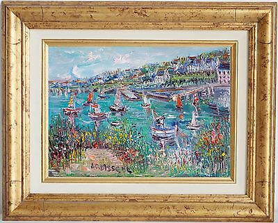 Yolande Ardissone~Well-Listed Artist~Harbor View~Signed Original Oil Painting