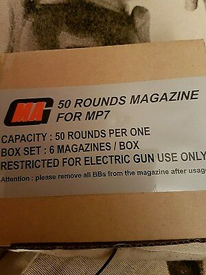 6x50 rounds magazines for airsoft MP7
