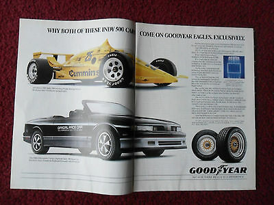 1988 Print Ad Goodyear Eagle Tires ~ Indy 500