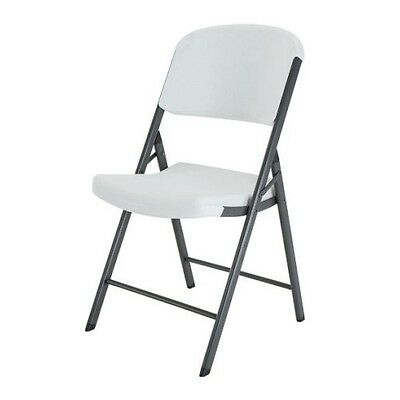 Brand New Lifetime Folding Chairs 42804 White Granite Color Plastic (4 Pack)