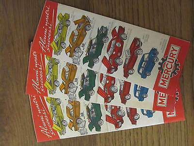 RARE MERCURY  3 VINTAGE CATALOGUES EARLY 60's