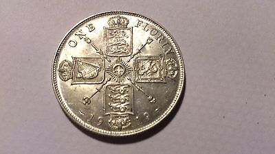 1919 George V  Florin / Two Shillings Uncirculated