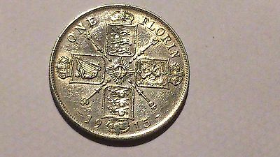 1915 George V  Florin / Two Shillings Uncirculated