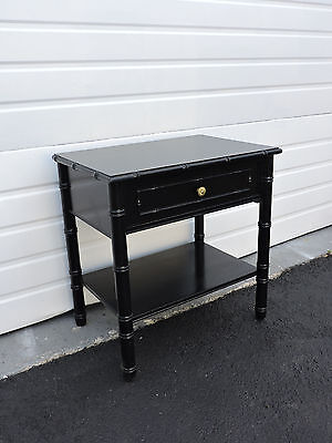 Mid-Century Hollywood Regency Painted Nightstand / End Table by Terryville 6854