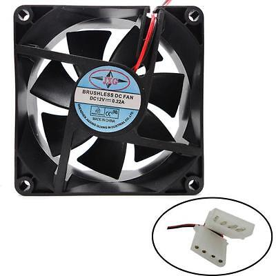 1X 80X80X25MM 12V 4Pin DC Brushless PC Computer Case Cooling Fan 1800PRM