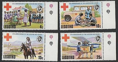 Lesotho stamps. 1976 The 25th Anniversary of Lesotho Red Cross. MNH