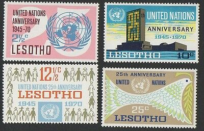 Lesotho stamps.1970 The 25th Anniversary of United Nations. Set 1. MNH