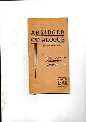 Abridged Catalogue 10Th Edition 2Nd Print 1939 The London Cigarette Card Co Ltd